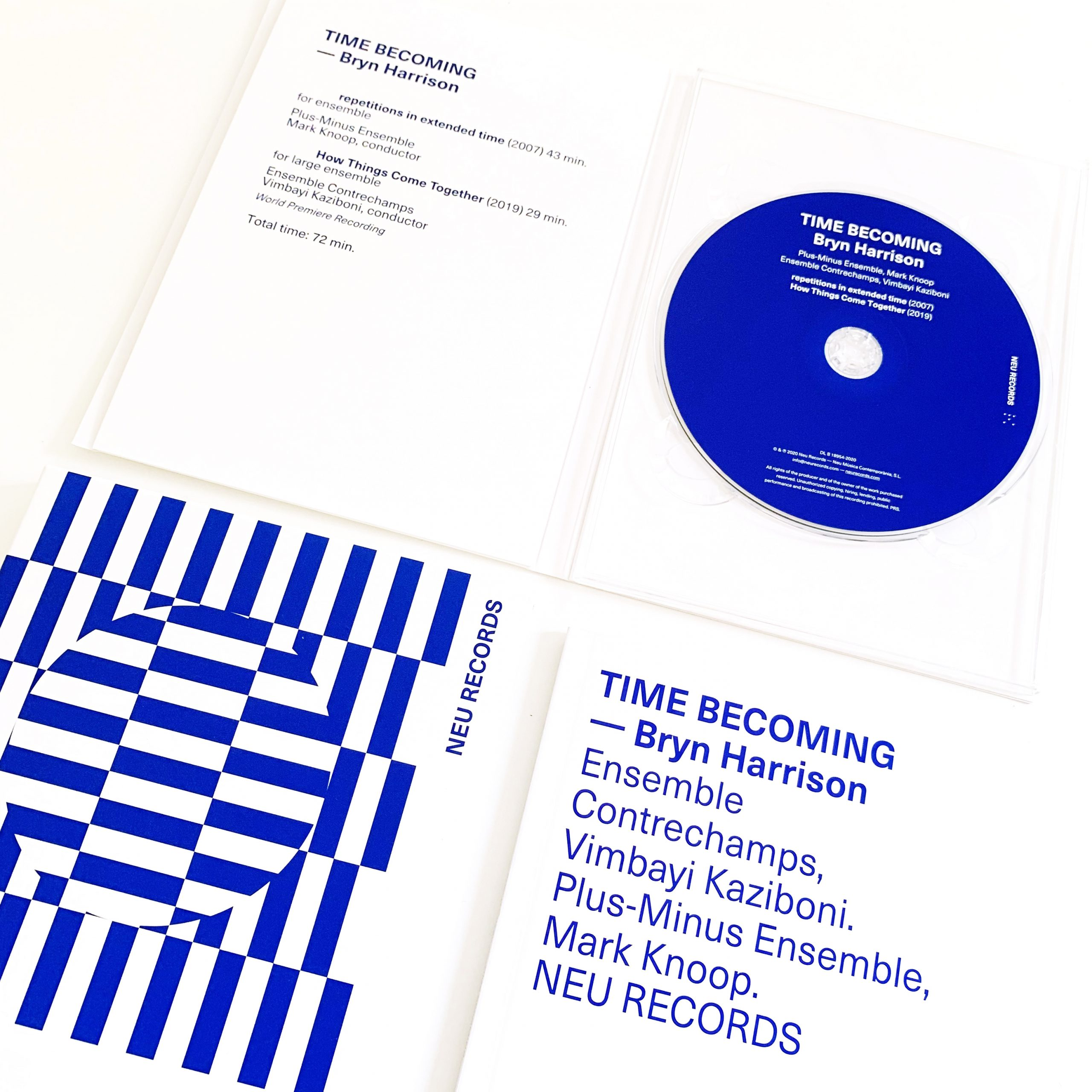 Bryn Harrison - Time Becoming - CD inside